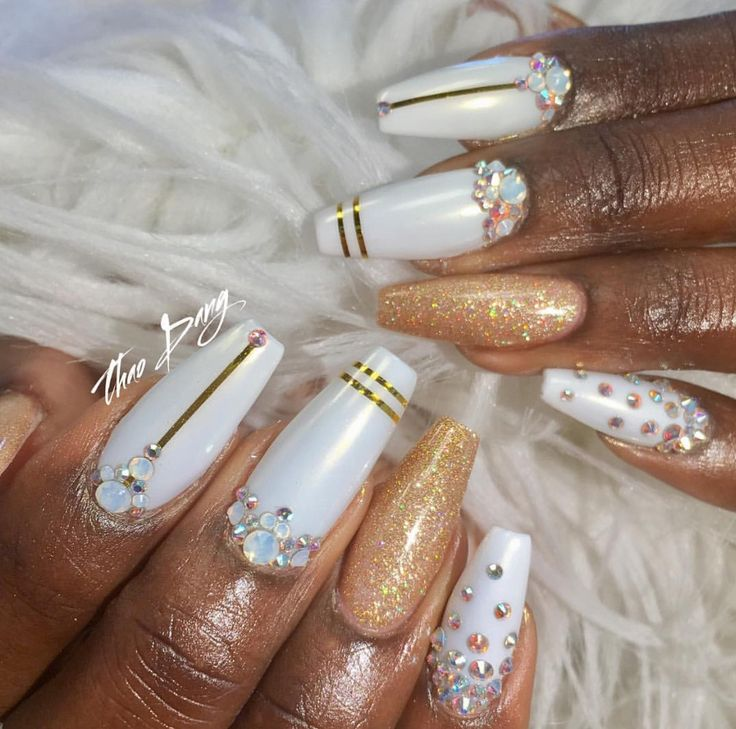 #Birthday Nails✨✨✨✨ Starting off the Right Way  By: Tdang Pinterest: Hair,Nails,And Style
