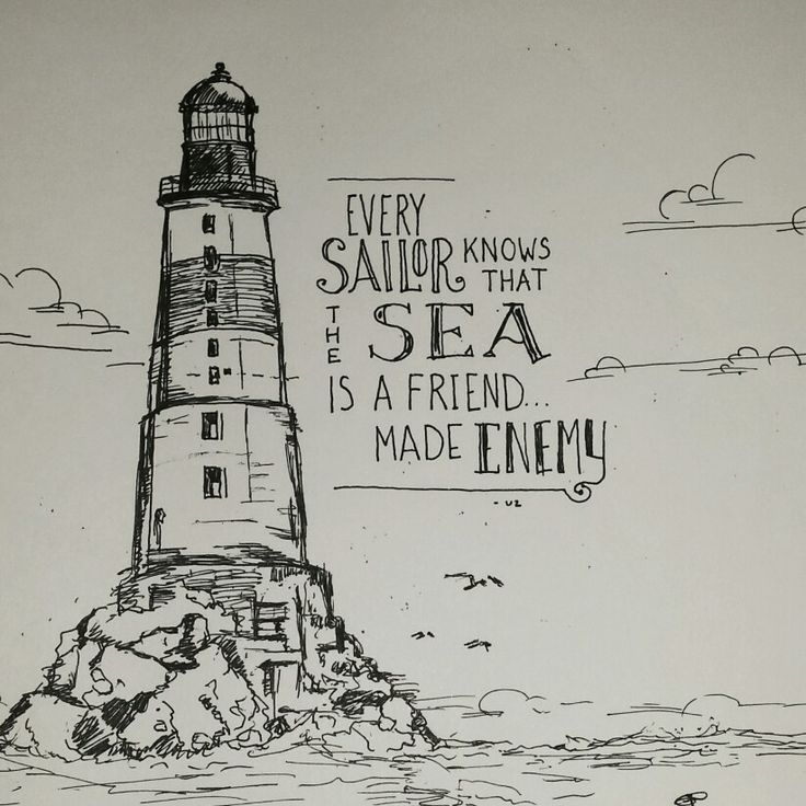 U2 - Every Breaking Wave/ Sketch/Quote Art Aniva Lighthouse - Sakhalin, Russia