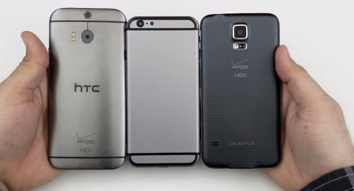 iPhone 6 Mockup vs Samsung Galaxy S5, HTC One M8, Galaxy Alpha: Side by Side Comparison