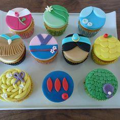 Disney Party ideas:  Disney princess cupcakes