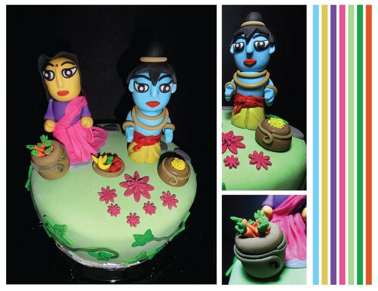 Lord Krishna and Radha cake by Circo de Azucar http://instagram.com/circodeazucar
