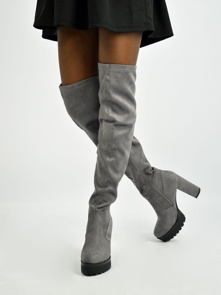 X9104 Μπότες Suede Over the Knee - Decoro - Γυναικεία ρούχα, ανδρικά ρούχα, παπούτσια