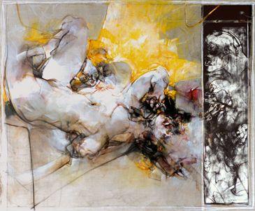 Curioso amore libero, 2009, tecnica mista su tela, Vanni Saltarelli