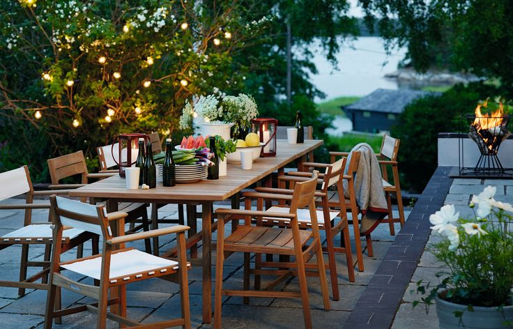 Djurö dining chair, teak. Design: Matilda Lindblom. (And one amazing Swedish summer night!)