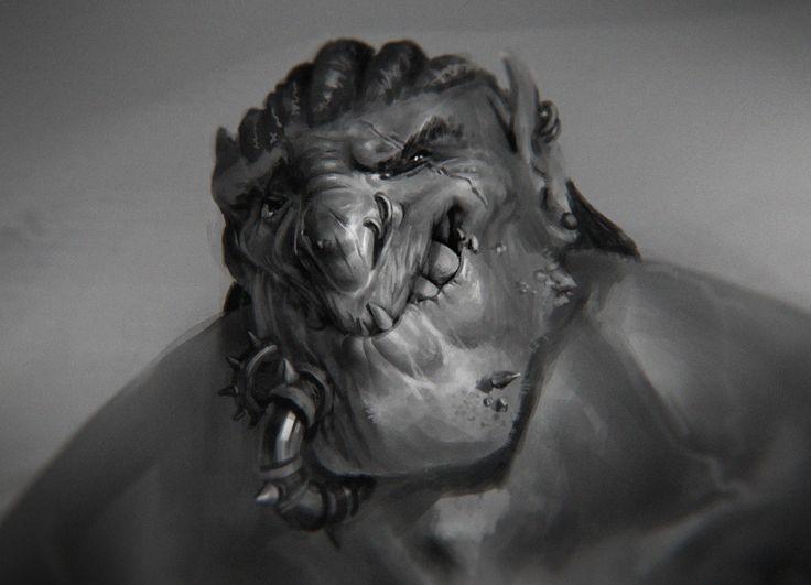 Orcish guy, Morten Solgaard Pedersen on ArtStation at https://www.artstation.com/artwork/AEPW5
