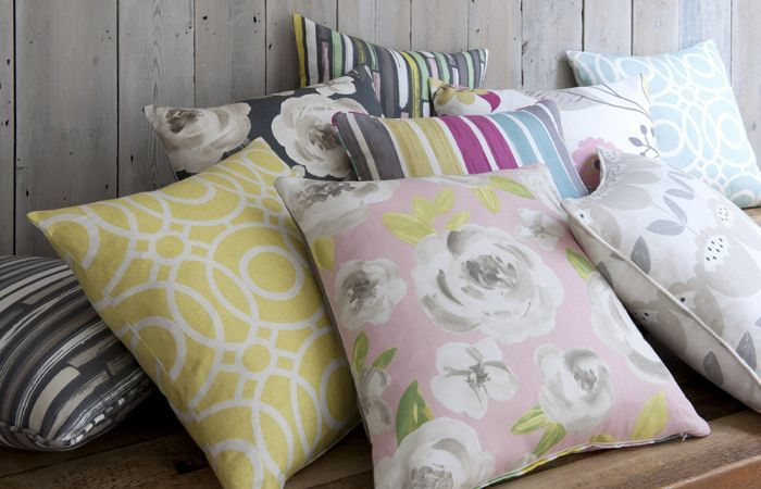 Folia, is a charming and playful collection of printed cotton designs, providing endless colour coordinating options for around the home. Botanical floral patterns combine with bold stripes and dramatic geometrics, with colours ranging from easy living Naturals through to punchy shades of Spice, Mineral and Sorbet.