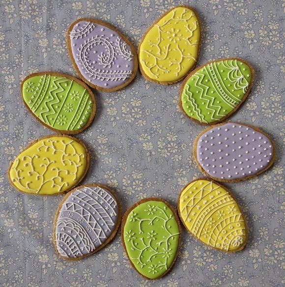 sables oeufs paques decore Joyeuses Pâques   Sablés œufs de Pâques colorés [en vidéo]