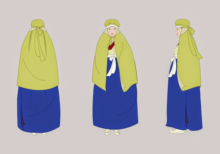 Cheonae (처네) 'Cheonae' is the Veil for Keep Out the Cold. The Women of North-Western Area Usually Worn It. Because the Northern Area of Korean Peninsula is Awfully Cold in the Winter. 'Cheonae' is Very Similar to 'Podaegi (포대기)', Which is a Baby Blanket.