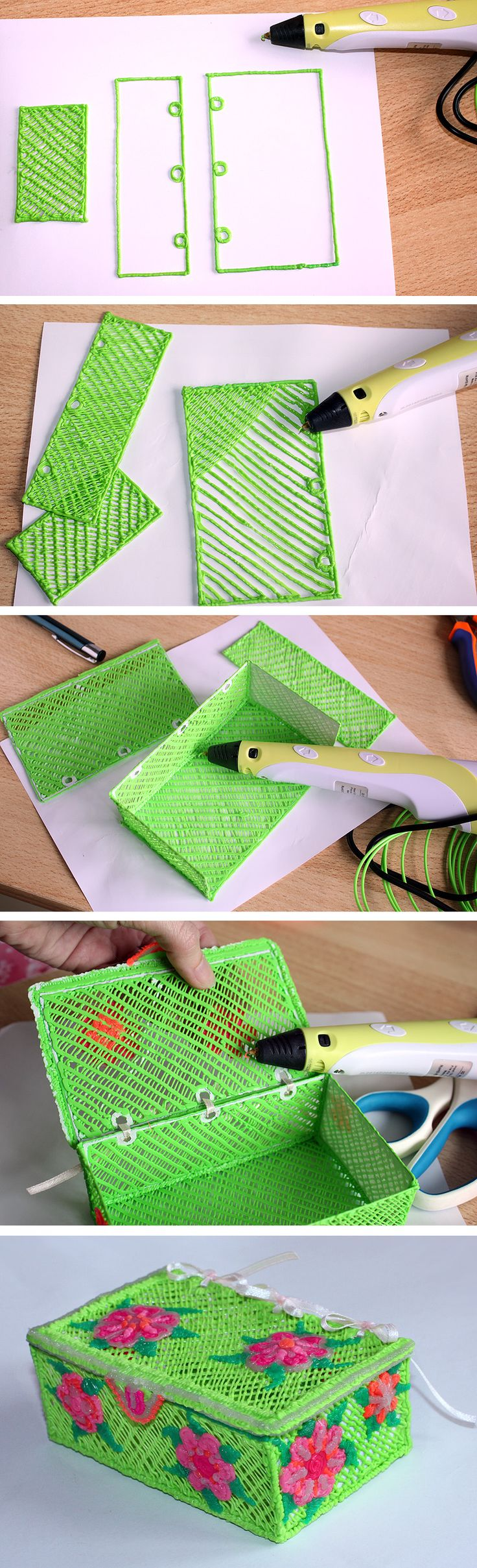 Jewellery box 3D pen creative