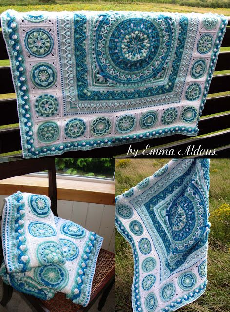 Amazing Circles of the Sun winter blanket by Emma Aldous