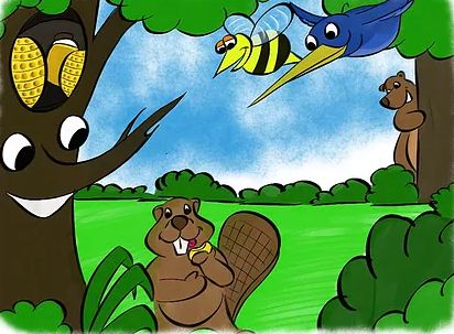 When news of hungry bears in the area reach the bee hive, Freddy the bee switches from his normal duty of collecting pollen to defending the hive.  As he patrols around the area surrounding the hive Freddy meets new friends and learns more about the forest.  Join Freddy and his friends as they find a way to keep the bears fed and the hive safe.