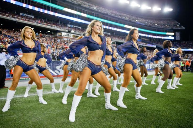 New England Patriots cheerleaders on the sidelines!
