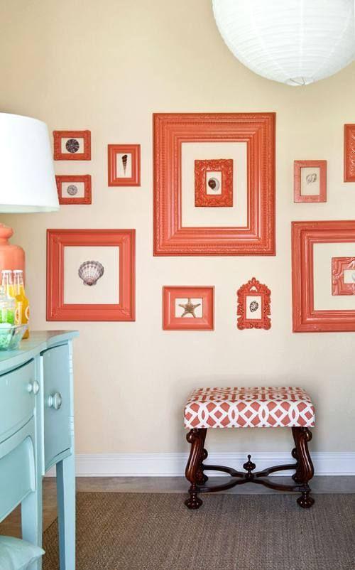 decoracin de paredes con cuadros y marcos vacos