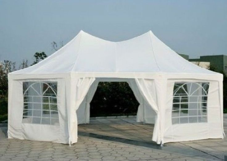 Large Octagon Party Tent Gazebo Canopy Weddings Graduation Portable 22 X 16 Feet