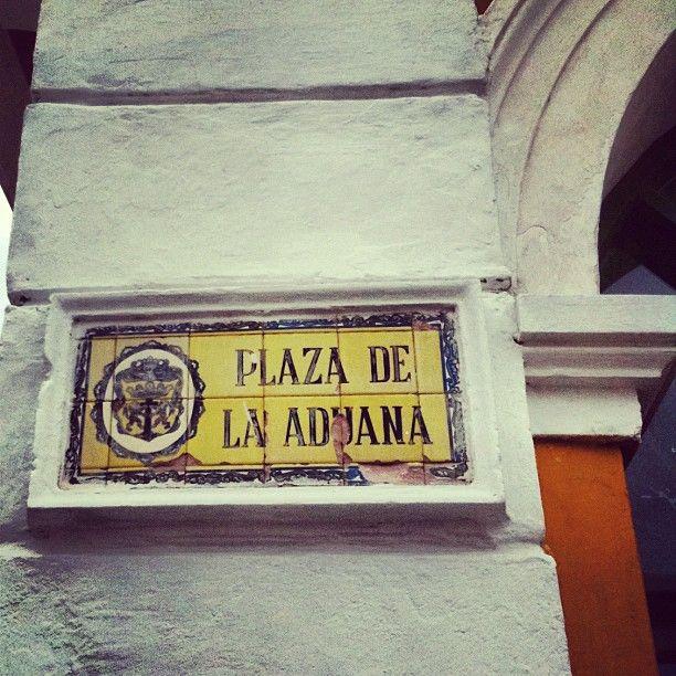 Plaza de La Aduana #Cartagena de Indias.