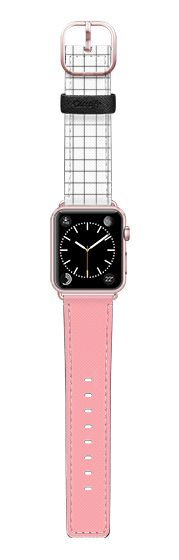 Casetify Apple Watch Band (38mm) Saffiano Leather Watch Band - Dipped in Pink by Jande Laulu