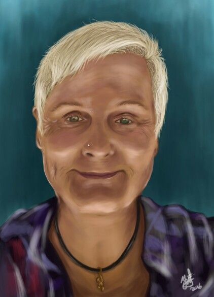 Birhday gift - self potrait digital painting