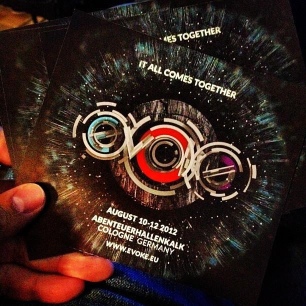 Einladung zur kommende evoke 2012