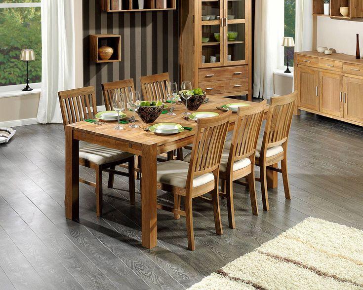 set »royal oak« (groß, 6 stühle, beige) - royal oak - serien, Esszimmer
