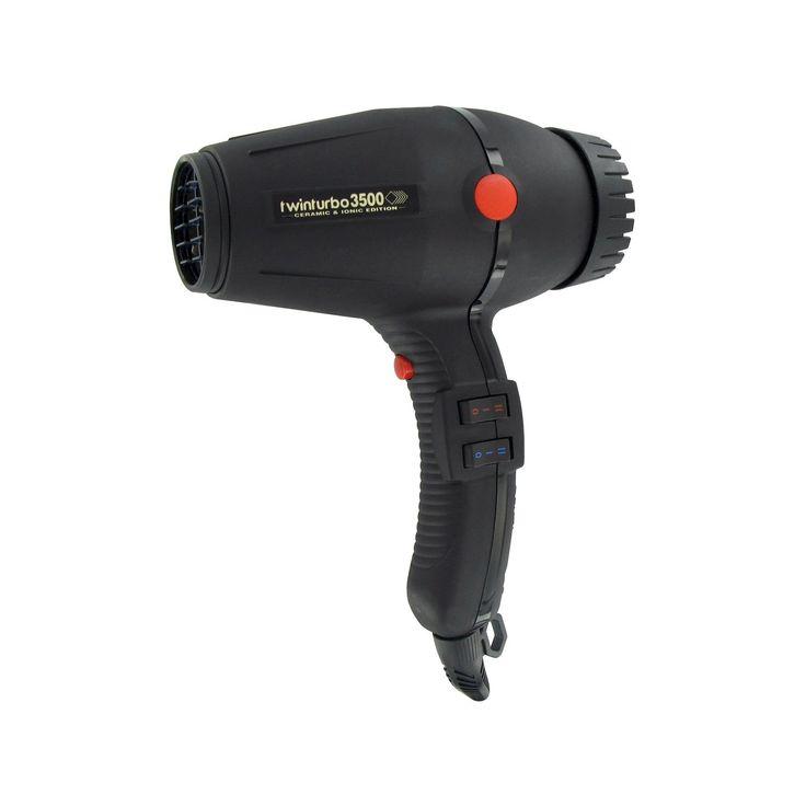 BaByliss Twin Turbo 3200 Ceramic & Ionic Professional Hair Dryer, Black