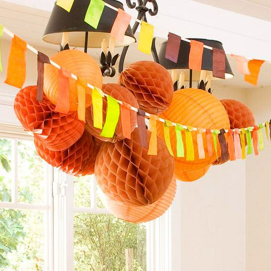 Paper Lantern Cluster Ceiling Decoration
