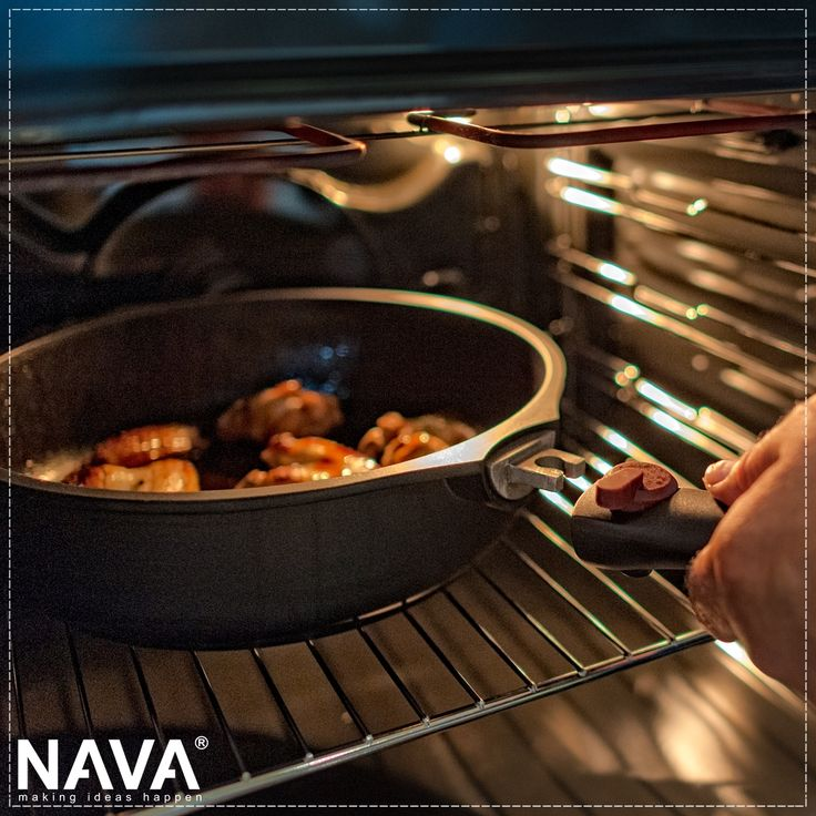 Experience the quality and comfort in your own kitchen! NAVA's Flytt cookware with removable handle for direct use in the oven.  Related video for the use here → http://bit.ly/2lSF3WS  More information about all the products from this range you will find  here → http://bit.ly/2uF918f   #nava #navaideas #kitchen #kitchenart #cooking #cookware #flytt