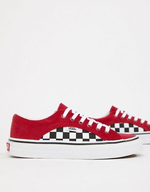 174202ba3c6 Vans Red Corduroy Lampin Sneakers