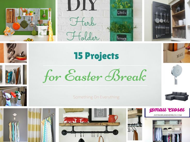 15 Projects for Easter Break | by http://www.SomethingOnEverything.com