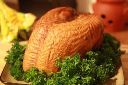 Smoked Turkey Breast Cooked In An Electric Smoker - leave out water to get a higher temperature