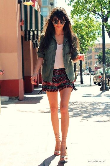 Urban Outfitters Jacket, Urban Outfitters Shorts, Bcbg Heels