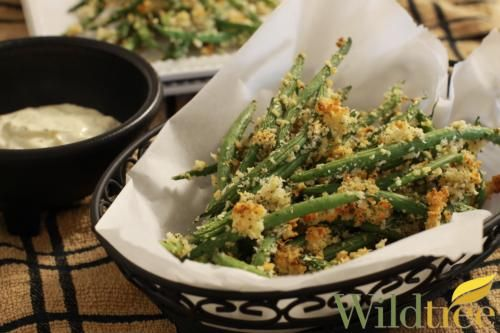 Wildtree's Baked Green Bean Fries with Garlic AioliRecipe #healthmotivationlifestyle