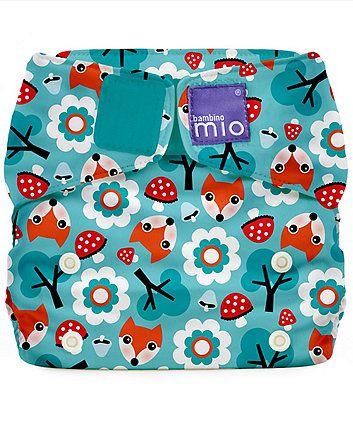 Bambino Mio Miosolo Reusable Nappy, One Size - Woodland Fox - reusable nappies - Mothercare