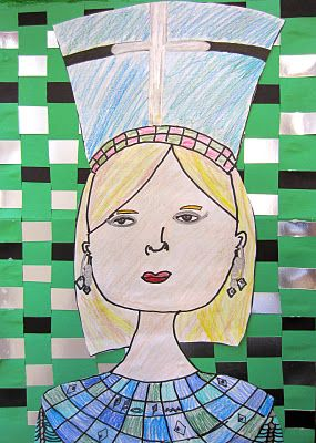 Egyptian Self Portraits (I love the weaving in the background, too)