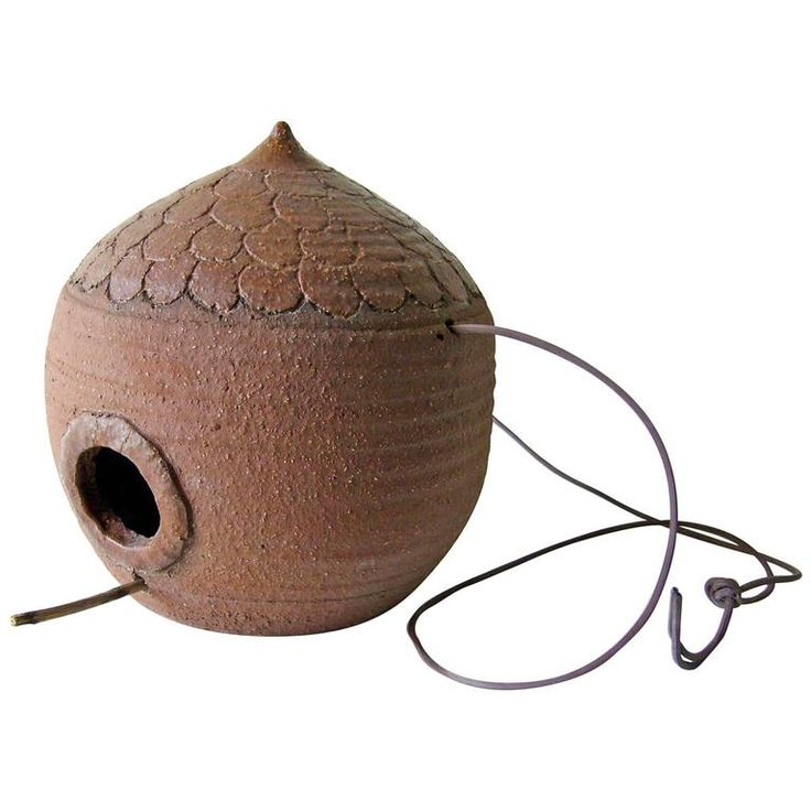 Stoneware Mid-Century Modern Birdhouse   1stdibs.com