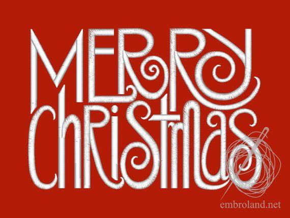 Merry Christmas Machine Embroidery Design от EMBROLANDnet