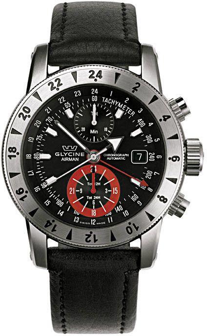 Glycine Watch Airman 9 #bezel-bidirectional #case-depth-15mm…