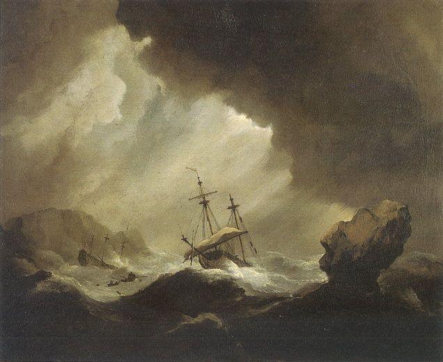 Willem van de Velde: English Ship in a Gale
