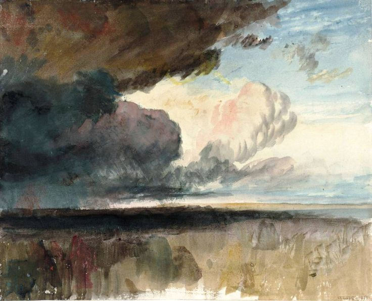 The Athenaeum - Heavy Dark Clouds (Joseph Mallord William Turner - )
