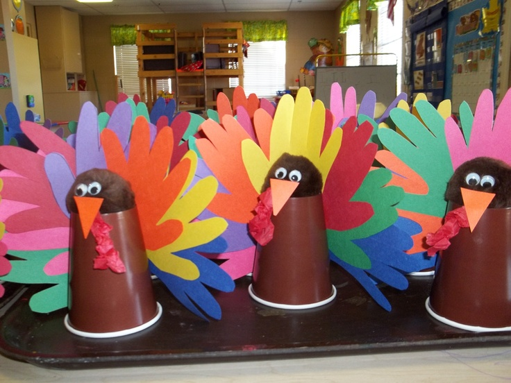 centerpieces made for the church's Thanksgiving dinner