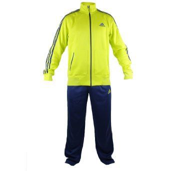 Adidas Ultimate Track Classic Suit - Lab Lime/Navy (Men)