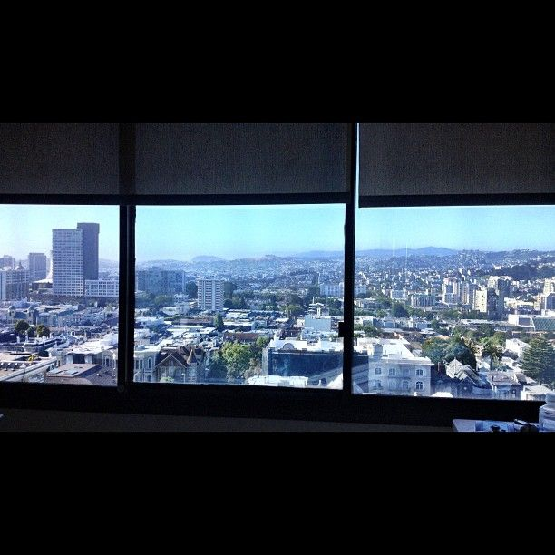 Awesome view from my patient's hospital room at CPMC