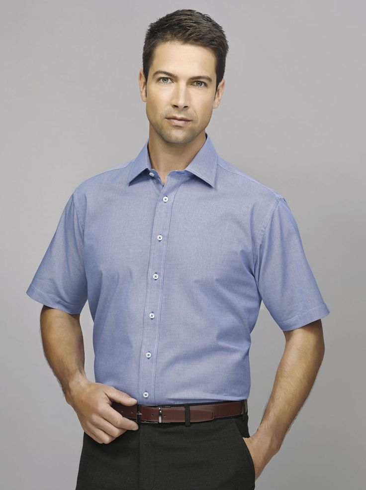 Hudson Short Sleeve Shirt #bizcorporates #boulevard #hudson #yarndyeddobby