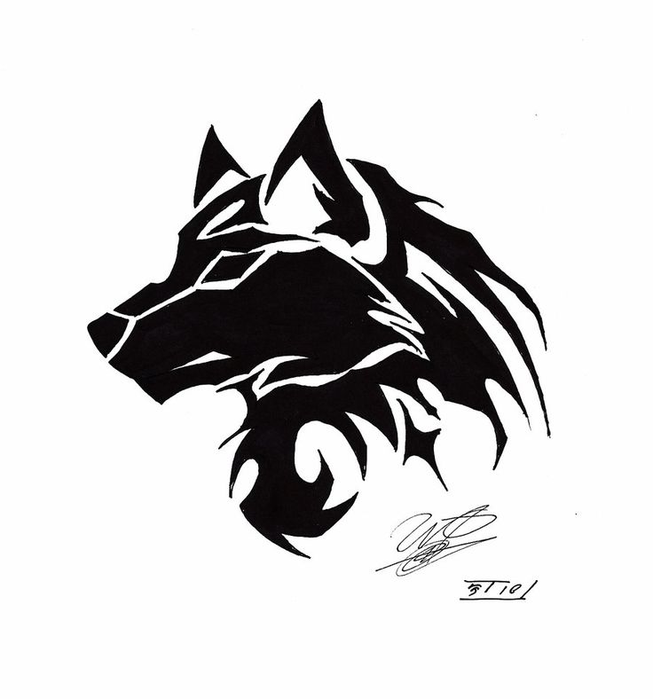 die besten 25 tribal wolf tattoos ideen auf pinterest. Black Bedroom Furniture Sets. Home Design Ideas