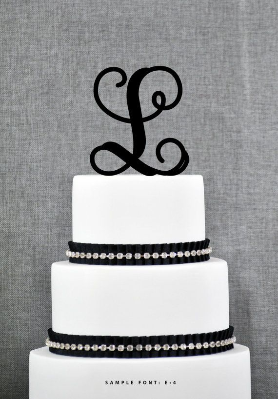 personalized monogram initial wedding cake toppers letter l custom monogram cake toppers unique
