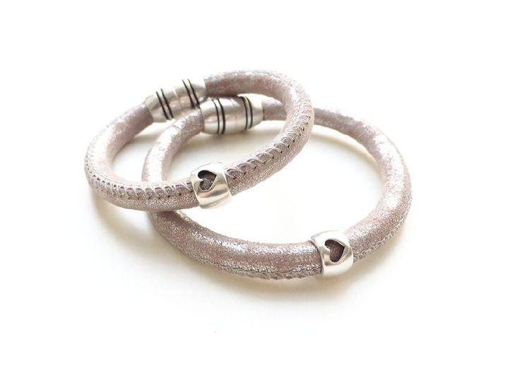 Moeder/dochter armbanden *set roze*