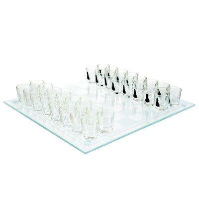 Trademark Games Shot Glass Drinking Game Chess