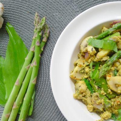 Tofu asperges met daslook