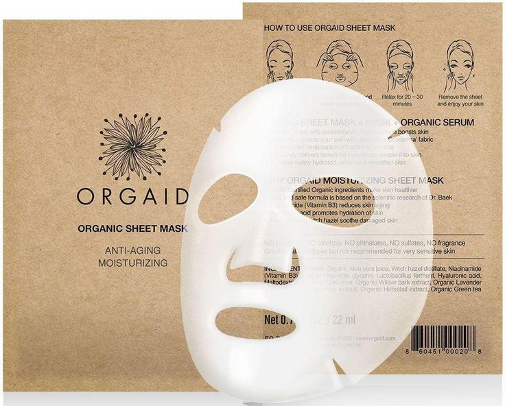 New organic, cruelty-free sheet masks for a facial treatment treat