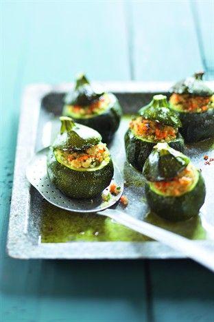 Courgettes rondes farcies Livre : 1001 idées pour cuisiner sans se ruiner Ed. Larousse Cuisine