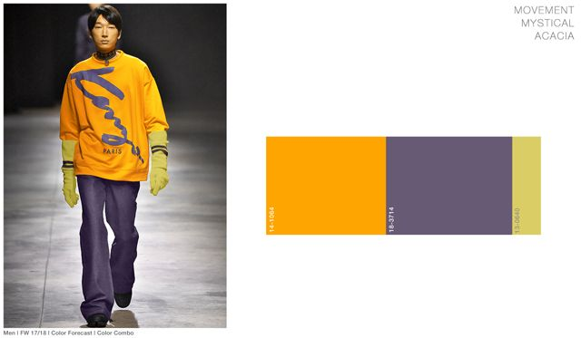 #FashionSnoops FW 17/18 color on #WeConnectFashion. Men's: Movement - Joy Brights Palette combo